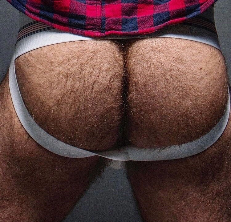 Plaid shirt and hairy ass in a jock – we found a lumberjack or a sleepover
