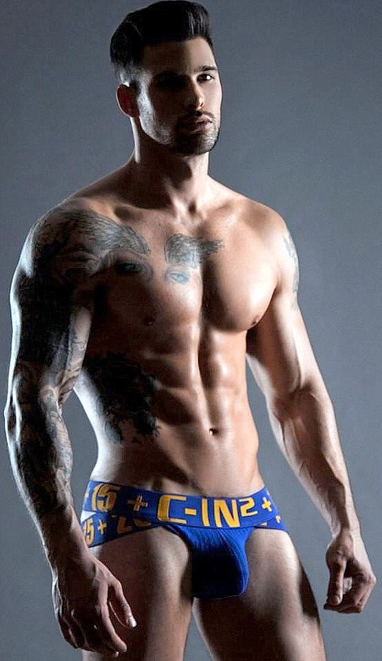 Veiny arms, washboard abs and stuff jock are damn hot. I want to to him to bed and mess up his hair….