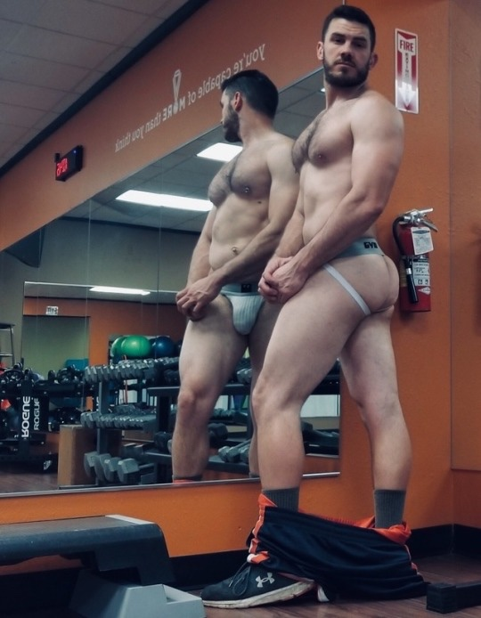 Management has talked to Bruce numerous times about posing in the gym in his Jock. But when he lists them online for $75 apiece, it's gonna be hard to stop him.