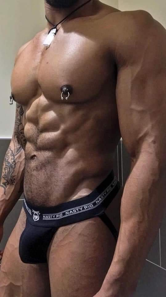 Is the waistband on this pair of  Nasty Pig Jock a statement or a question? Chuck is the NP, I learned that last night!!