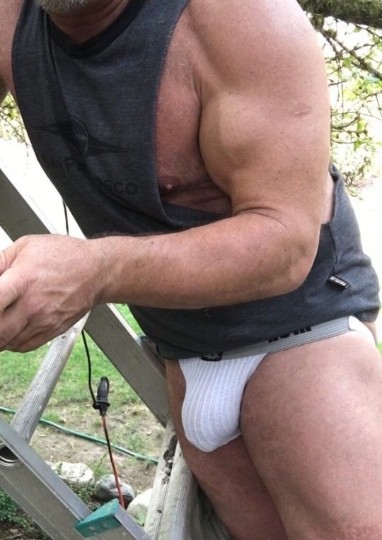 Looked out the window and saw the benefit of hiring confident, muscled handymen! He was outside my bedroom window 10 mins before I opened it and let him in.