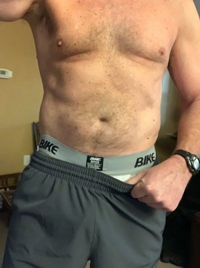 Yes I'm wearing a jock. If I pull my shorts down and you can tell if I'm circumcised or not, you have to blow me.